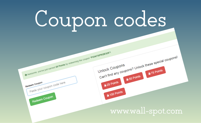 Use coupons pointsprizes
